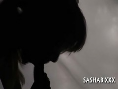 close-up footage of oral job