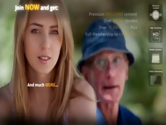 old farmer chap receives drilled by blond playgirl
