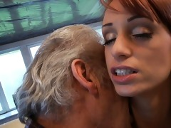 favourable oldman bonks with super hot sweetheart