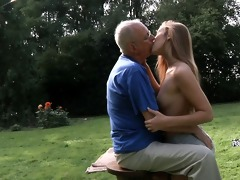 grandpa cleans and fuck alexis\s hairless twat