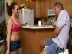 bad old dad screwed sexy daughter