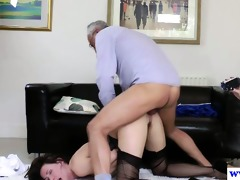 spruce hotties threeway with lewd old guy