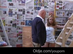 youthful nasty natali copulates bussines oldman