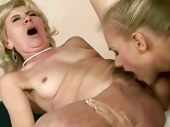 youthful cutie licking old cum-hole