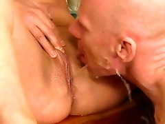 grandad and youthful cutie pissing and fucking