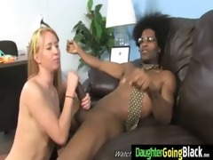 young daughter receives pounded by big darksome