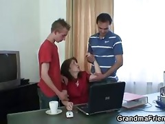 daddy and son bang old whore