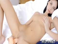 gal shows her flexibility