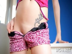girl fondles her bawdy cleft